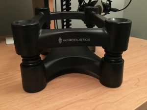 IsoAcoustics ISO-L8R200 Large Studio Monitor Stands - Front shot without monitor