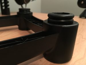 IsoAcoustics ISO-L8R200 Large Studio Monitor Stands - Rubber bushings closeup